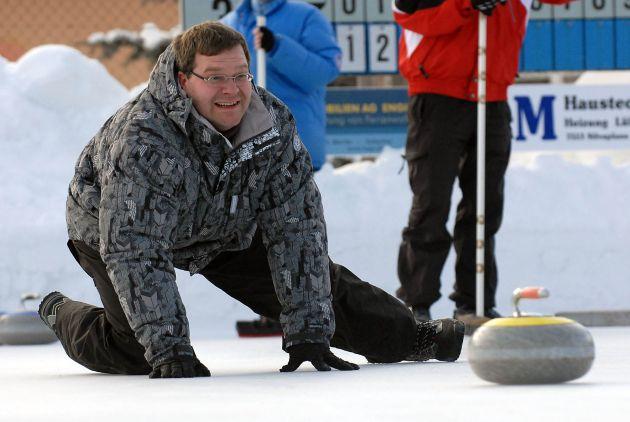 Extrem-Curling mit Stefan Raab in St. Moritz