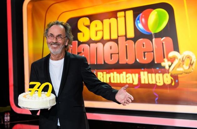 Herzlichen Glückwunsch Hugo Egon Balder! SAT.1 schmeißt zum 70. Geburtstag große Party: