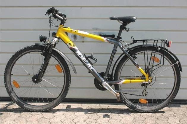 Gelb/ graues Mountainbike der Marke Ideal
