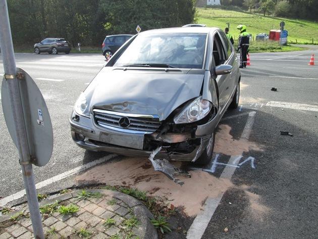 Das zweite Unfallfahrzeug