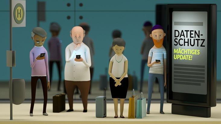 """Neue Datenschutzregeln in der EU: Das Infoportal """"Deine Daten. Deine Rechte."""" erläutert in Erklärvideos die neuen Rechte. Weiterer Text über ots und www.presseportal.de/nr/130756 / Die Verwendung dieses Bildes ist für redaktionelle Zwecke honorarfrei. Veröffentlichung bitte unter Quellenangabe: """"obs/Digitale Gesellschaft e.V."""""""