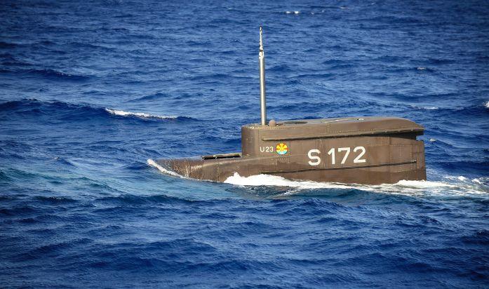 Achrivbild: U23 taucht ab. Foto: Deutsche Marine