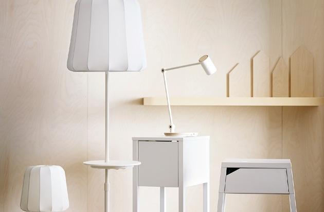 neue ikea design kollektion mit kabelloser ladefunktion. Black Bedroom Furniture Sets. Home Design Ideas