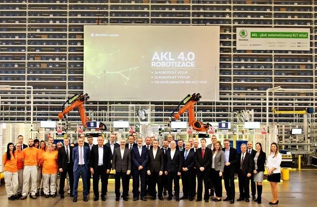 SKODA AUTO eröffnet Automatisches Kleinteilelager im Stammwerk Mladá Boleslav