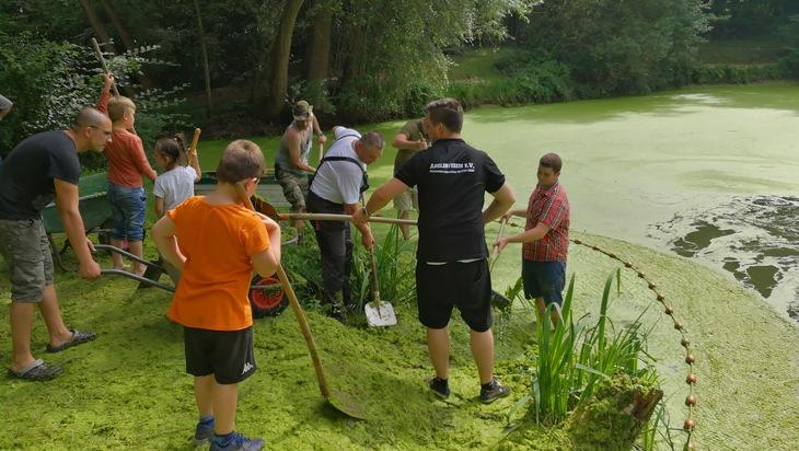 FW-MG: Fischsterben im Peeler Feldchen See