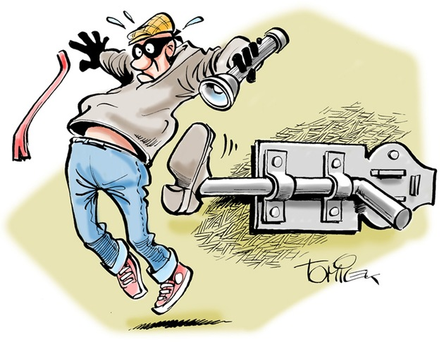Symbolbild: Einbrechern wirksam einen RIEGEL vorschieben !