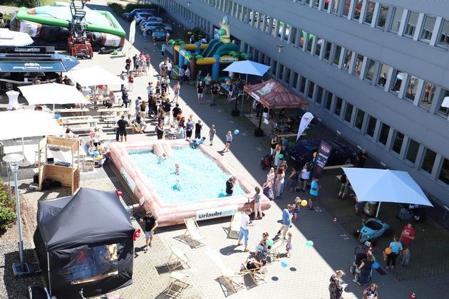 Schon morgens war beim UNIQ-Erlebnistag auf dem Gelände am Rhenus Platz 2 viel los (Foto: Julia Rienhoff/ UNIQ)