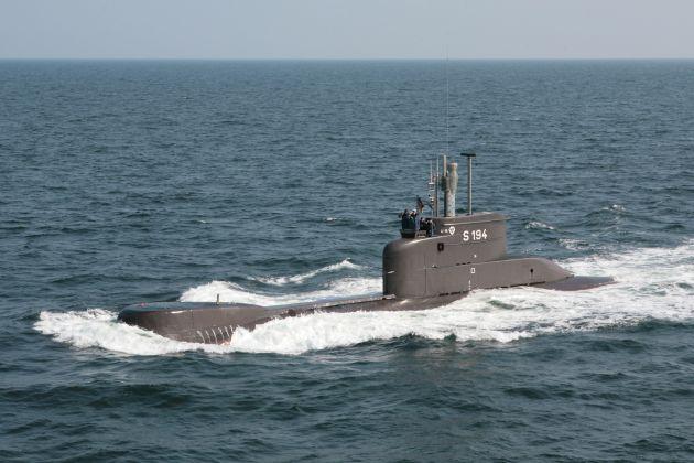 Achrivbild: Unterseeboot U15 in voller Fahrt. Foto: Deutsche Marine