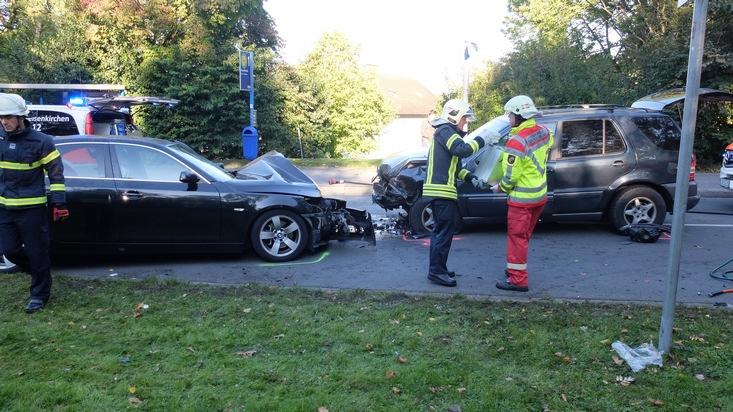 Verkehrsunfall in Gelsenkirchen mit drei verletzten Personen