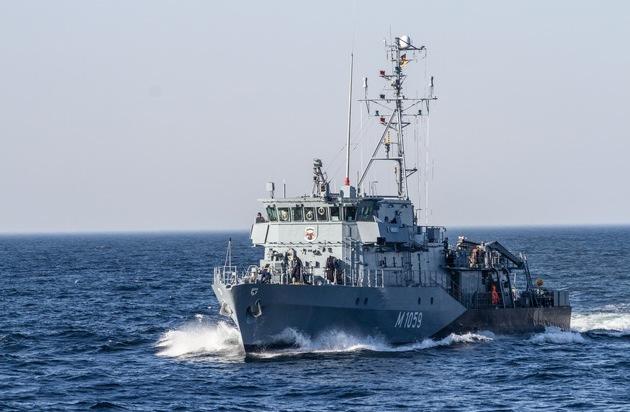 Zurück von der NATO: Minenjagdboot Weilheim vor Weihnachten zu Hause in Kiel