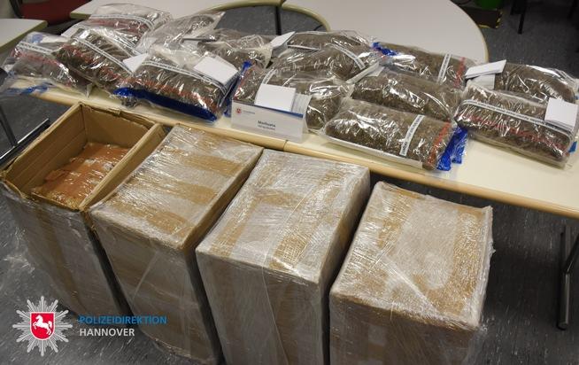 POL-H: Gemeinsame Presseinformation der Staatsanwaltschaft Hannover und der Polizeidirektion Hannover 105 Kilogramm Marihuana bei Durchsuchungen beschlagnahmt