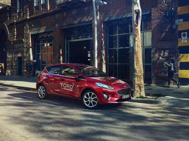 """Ford Fiesta im Ford Carsharing. Weiterer Text über ots und www.presseportal.de/nr/6955 / Die Verwendung dieses Bildes ist für redaktionelle Zwecke honorarfrei. Veröffentlichung bitte unter Quellenangabe: """"obs/Ford-Werke GmbH"""""""