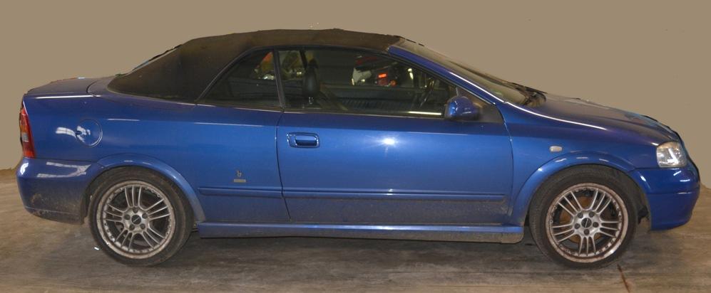 Opel Astra Cabrio Bild: Polizei, freigegeben