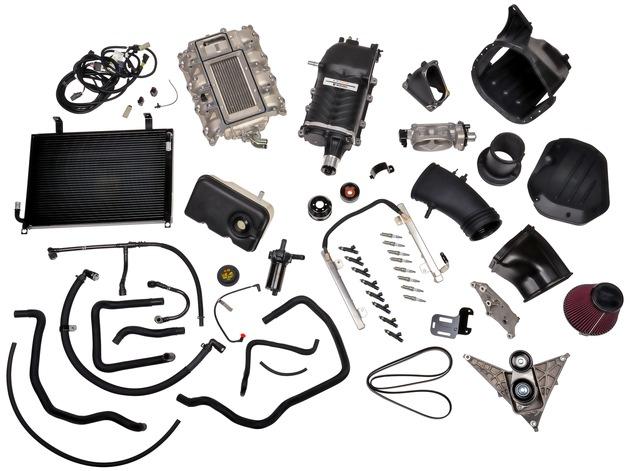 """Ford Performance Parts: Sportliches Tuningprogramm für Straße und Rennstrecke / Ford Performance Parts Roush supercharger kit / Weiterer Text über ots und www.presseportal.de/nr/6955 / Die Verwendung dieses Bildes ist für redaktionelle Zwecke honorarfrei. Veröffentlichung bitte unter Quellenangabe: """"obs/Ford-Werke GmbH/JDrury"""""""
