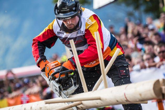 Deutsche Nationalmannschaft triumphiert bei Waldarbeiter-Weltmeisterschaft in Brienz (Schweiz)