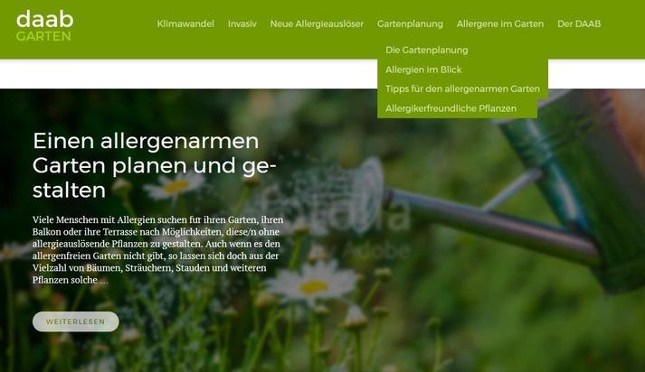 Allergien im Garten: Neue Internetseite hilft bei der Gestaltung und Auswahl geeigneter Pflanzen