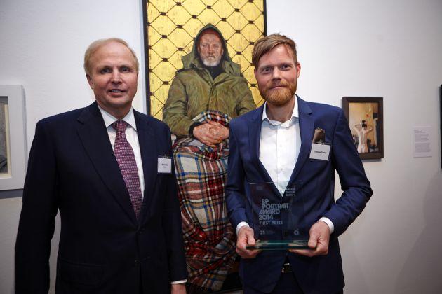 Thomas Ganter aus Frankfurt am Main gewinnt BP Portrait Award 2014