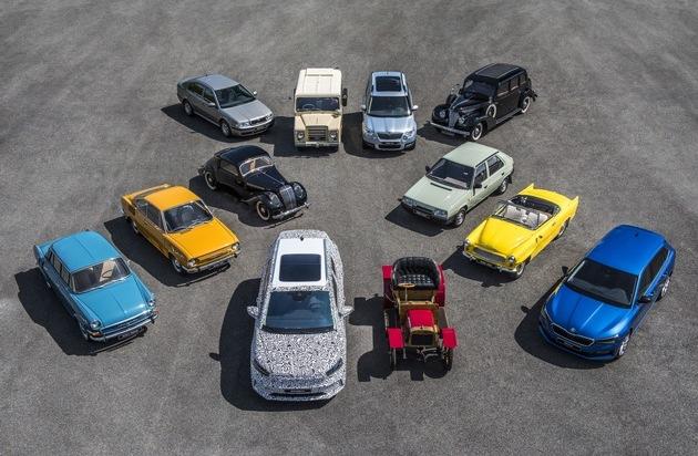 125 Jahre SKODA: Zeitreise mit zwölf automobilen Meilensteinen der Unternehmensgeschichte
