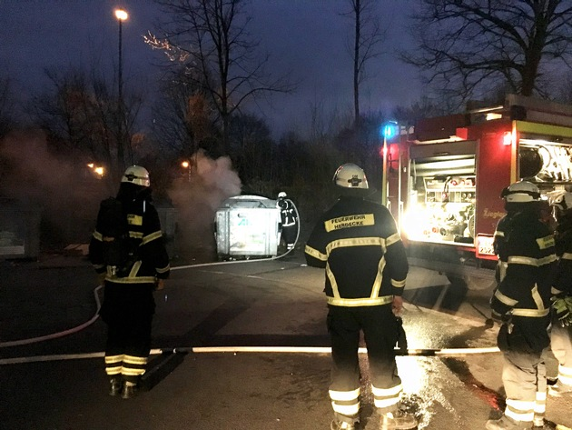 Containerbrand am Zweibrücker Hof