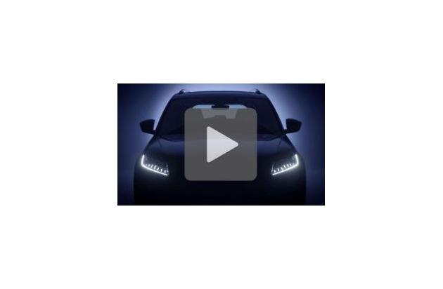 """Video: SKODA enthüllt erste Details des neuen SKODA KODIAQ RS, des ersten SUV in der Palette der sportlichen RS-Modelle. Weiterer Text über ots und www.presseportal.de/nr/28249 / Die Verwendung dieses Bildes ist für redaktionelle Zwecke honorarfrei. Veröffentlichung bitte unter Quellenangabe: """"obs/Skoda Auto Deutschland GmbH"""""""