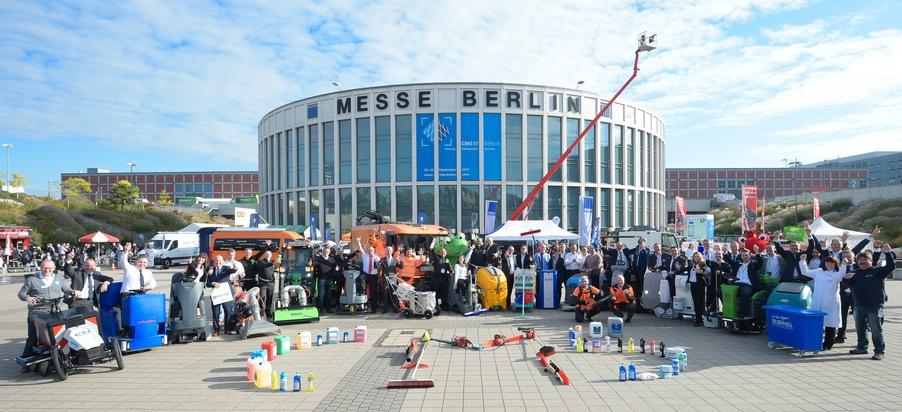 Zahlreiche Weltpremieren auf der CMS Berlin 2017: Globaler Reinigungsgipfel startet mit Parade der Reinigungsprodukte