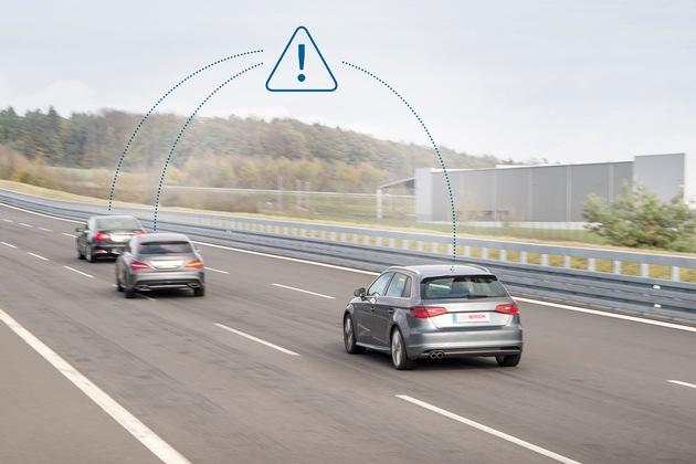 Bosch, Vodafone und Huawei lassen schlaue Autos miteinander reden