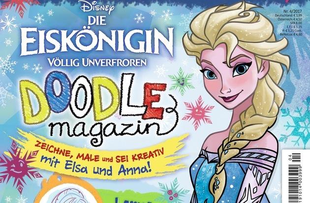 das disney doodle magazin für kleine künstler: kreativer