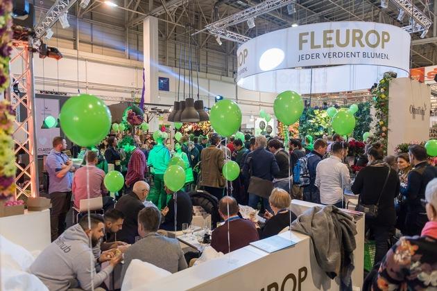 Die Fleurops-Junge-Wilde-Party ist immer ein Highlight beim Fleurop-Messestand auf der IPM. ©Peter Johann Kierzkowski/Fleurop AG