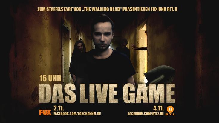 """Live Game auf Facebook von FOX und RTL II zu """"The Walking Dead"""". Weiterer Text über ots und www.presseportal.de/nr/107769 / Die Verwendung dieses Bildes ist für redaktionelle Zwecke honorarfrei. Veröffentlichung bitte unter Quellenangabe: """"obs/Fox Networks Group Germany/FOX / RTL II"""""""
