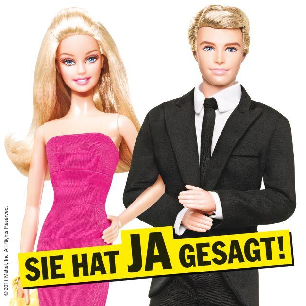 """Sie hat JA gesagt![TM] - Barbie® und Ken® - Das ultimative Traumpaar ist zurück. Die Verwendung dieses Bildes ist für redaktionelle Zwecke honorarfrei. Veröffentlichung bitte unter Quellenangabe: """"obs/Mattel GmbH"""" Die Verwendung dieses Bildes ist für redaktionelle Zwecke honorarfrei. Veröffentlichung bitte unter Quellenangabe: """"obs/Mattel GmbH"""""""