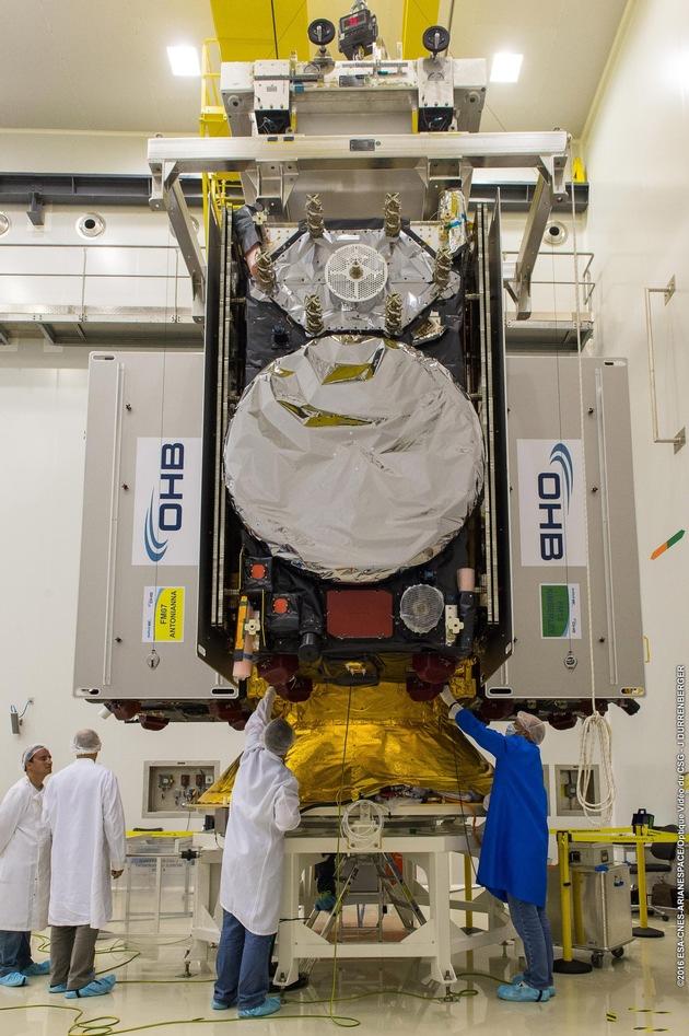 Im November 2016 wurden vier Satelliten aus dem Hause OHB System AG gestartet  (c) ESA/CNES/ARIANESPACE