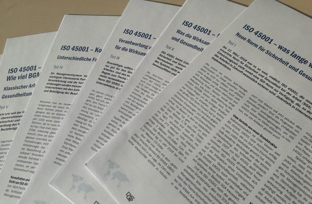 """ISO 45001: sechsteiliges Whitepaper der DQS / Das Wichtigste aus der Norm """"Sicherheit und Gesundheit bei der Arbeit"""""""