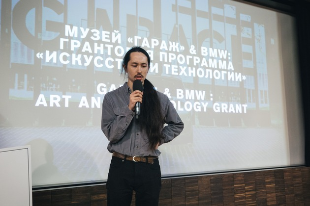 The announcement of BMW Group Russia and Garage Museum of Contemporary Art grant winner, April 10, 2018, Moscow, Russia; Sergey Kasich (artist). © Garage Museum of Contemporary Art