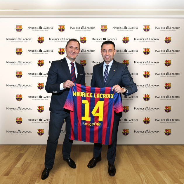 "Maurice Lacroix is delighted to announce a three-year partnership with FC Barcelona as the ""FC Barcelona Official Watch Partner"" (PICTURE)"