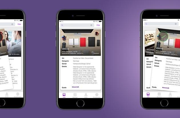 ▷ Die neue Monster Job Search App: Swipe dich zum Traum-Job ...