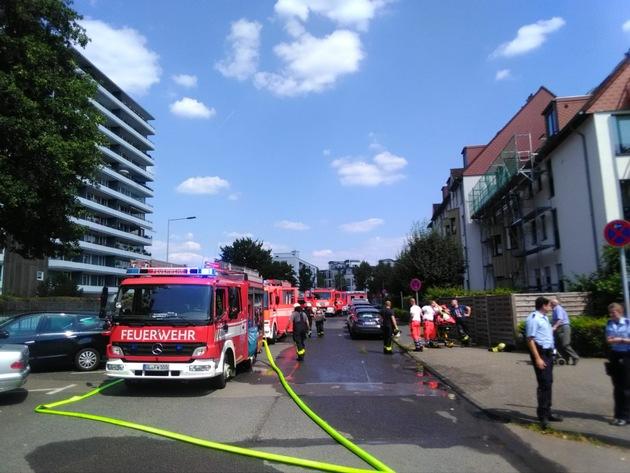 Feuer im Stadtteil Refrath