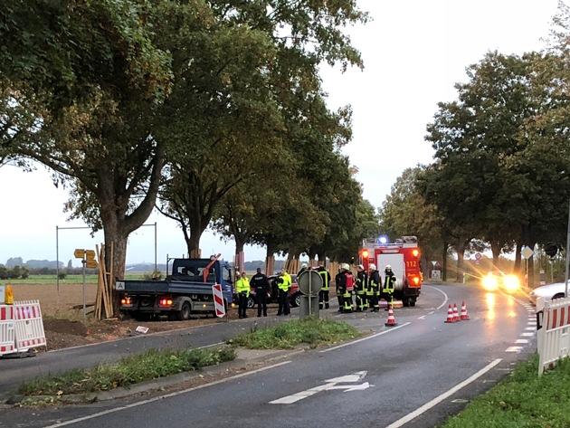Verkehrsunfall Rheinuferstraße