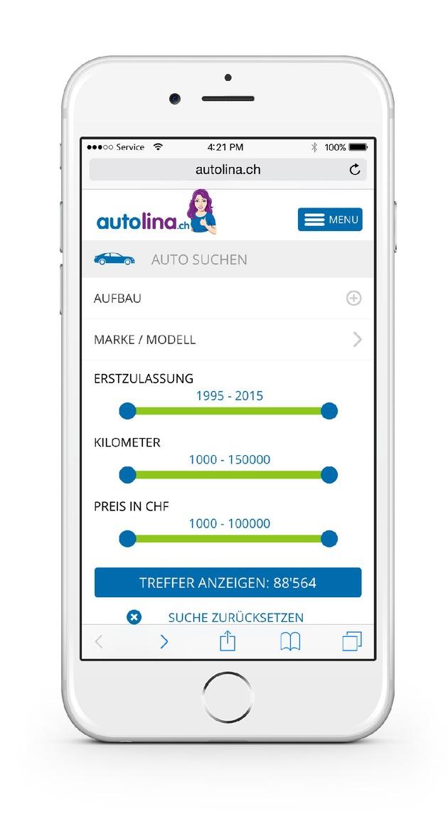 autolina.ch - die exklusive Autoplattform mit brandneuen Funktionen und Zielgruppenerweiterung (BILD)