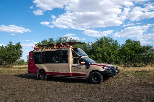 Setzt neue Maßstäbe: Der TARUK Safari Tourer basiert auf einem 3,2-Liter Ford Ranger.