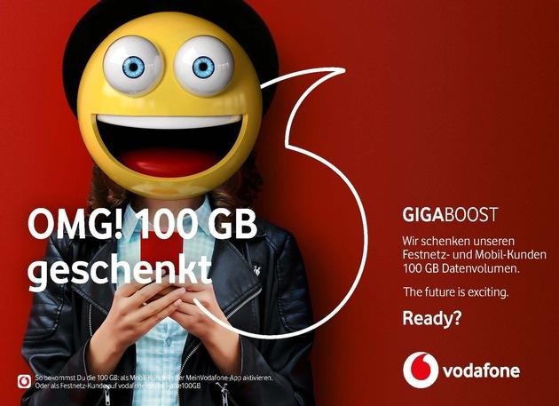 Printanzeige der Vodafone GigaBoost Kampagne