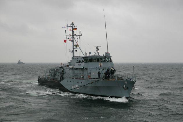 """Marine - Pressemeldung / Pressetermin: Einlaufen des Minenjagdbootes """"Fulda"""""""