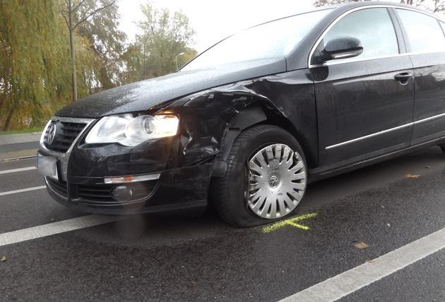 POL-HST: Verkehrsunfall in Stralsund - 12.000 Euro Schaden