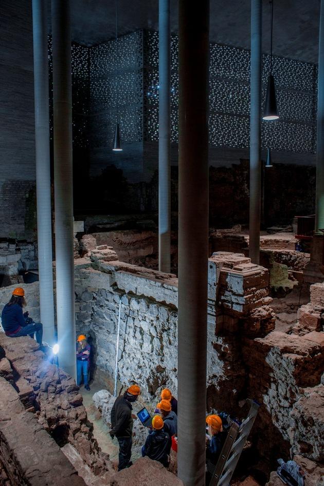 Die im Zweiten Weltkrieg fast vollständig zerstörte Kirche St. Kolumba steht auf Fundamenten verschiedener Vorgängerbauten, die bis zu 2.000 Jahre alt sind (Foto: Thilo Schmülgen / TH Köln)