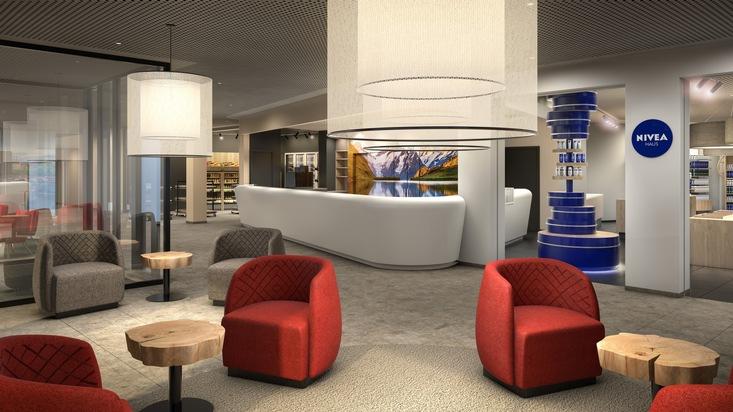 Absolutes Novum: Das erste NIVEA-Haus der Schweiz in der Lobby des a-ja City-Resorts  Zürich bietet Hotel- sowie externen Gästen Body- und Beautybehandlungen für Frau und  Mann. (Bild: a-ja Resort und Hotel GmbH)