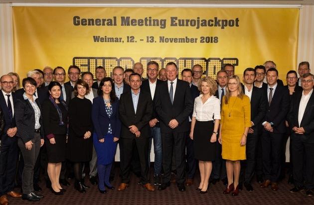 Weimar - Gastgeberstadt der 17. Eurojackpot Generalversammlung / Staatliche Lotterien tragen entscheidend zum Erhalt des kulturellen Erbes bei