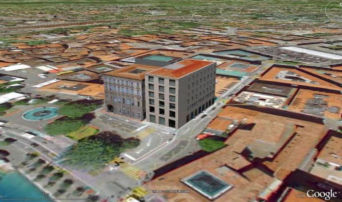 Palazzo BSI et ses oeuvres d'art en 3D dans Google Earth