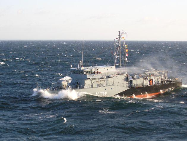 """Marine-Pressemitteilung/Pressetermin: Kieler Minenjagdboot """"Datteln"""" mit NATO-Verband auf dem Weg ins Mittelmeer (mit Bild)"""