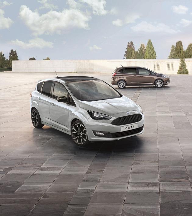 """Der fünfsitzige Ford C-MAX ist ab sofort auch in der Ausstattungsversion """"Sport"""" bestellbar (Einstiegspreis: 23.800 Euro). Wesentliche Kennzeichen: attraktive Styling-Extras, Innenraum-Upgrades und eine umfangreiche Serienausstattung. Der """"Sport"""" richtet sich vor allem an aktive Familien mit Platzbedarf, die ein ebenso sparsames wie flexibles Fahrzeug benötigen. Weiterer Text über ots und www.presseportal.de/nr/6955 / Die Verwendung dieses Bildes ist für redaktionelle Zwecke honorarfrei. Veröffentlichung bitte unter Quellenangabe: """"obs/Ford-Werke GmbH"""""""