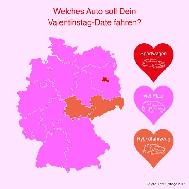 """Valentinstag Landkarte... Weiterer Text über ots und www.presseportal.de/nr/6955 / Die Verwendung dieses Bildes ist für redaktionelle Zwecke honorarfrei. Veröffentlichung bitte unter Quellenangabe: """"obs/Ford-Werke GmbH"""""""