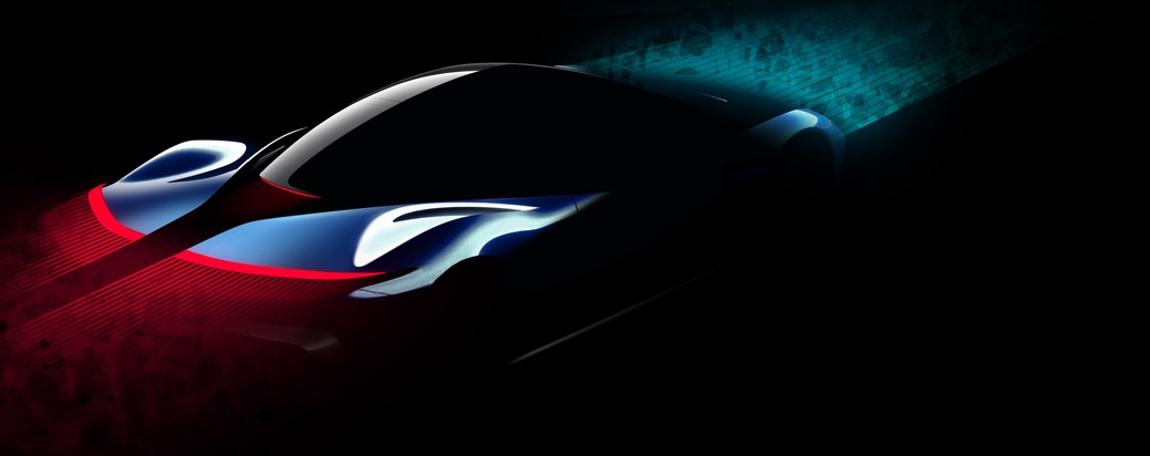 """PF0 Concept Sketch / / PF0 HYPERCAR PRESENTATION IS REALISATION OF AN 'AMERICAN DREAM' SAYS PAOLO PININFARINA / Further text via ots and www.presseportal.de/nr/130324 / Editorial use of this picture is free of charge. Please quote the source: """"obs/Automobili Pininfarina"""""""
